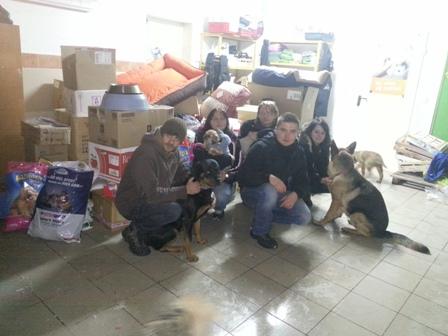 Bild von der Spendenübergabe in Polen